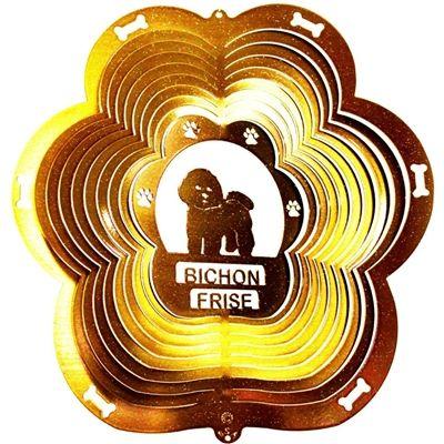 """12"""" Bichon Frise - Copper Starlight Wind Spinner. #bichonfrise #windspinner #gardendecor"""