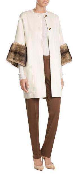 AGNONA  Reversible Wool Coat with Fur | STYLEBOP.com