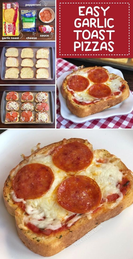 Quick & Easy Dinner Idea: Garlic Toast Pizzas