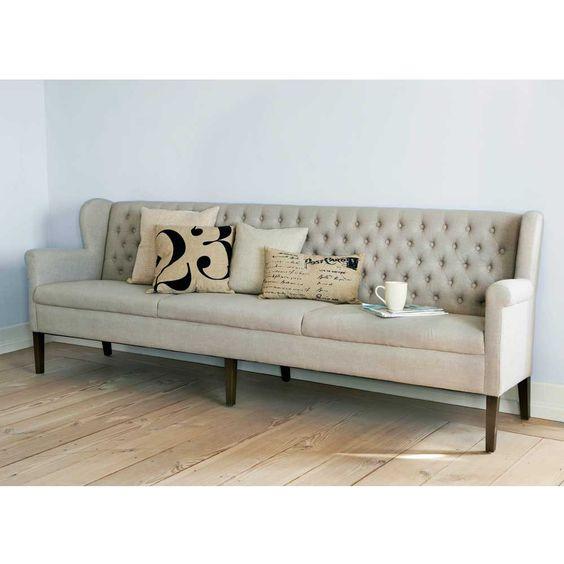 esszimmer sofa in beige mit stoffbezug auf pharao24.de entdecken
