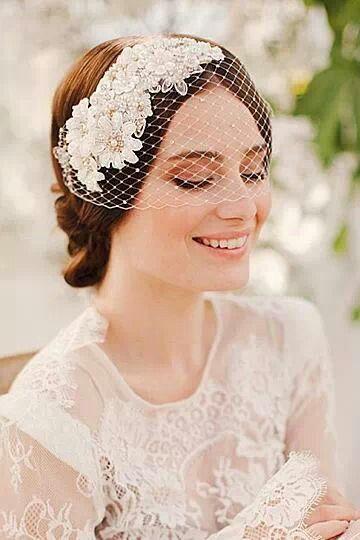 tocado con velo vintage peinados de novia pinterest On tocados con velo