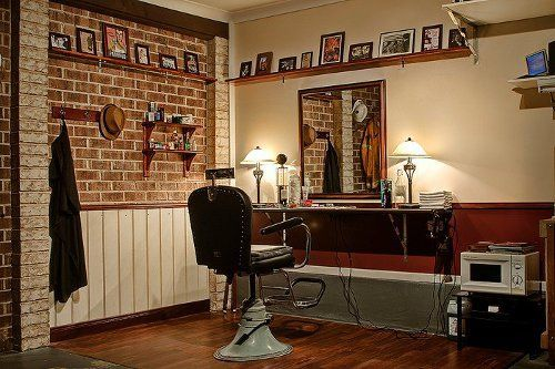 Turn Your Garage Into A Barbershop The Art Of Manliness In 2020 Barber Shop Decor Barber Shop Shed Storage