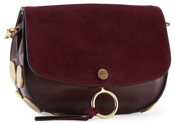 """Chloe """"Kurtis"""" Shoulder Bag in Dark Purple"""