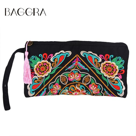Coupon CodeBAGGRA National Two Side Embroidery Bag Women Messenger ...