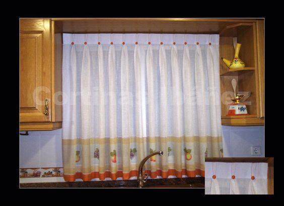 Cortinas cocina disponemos de much simas telas de las - Que cortinas poner en la cocina ...