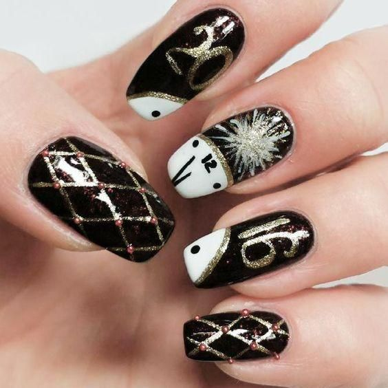 Get Ready For The Upcoming New Year Bright Colors For New Year Nails 2019 New Years Nail Designs New Years Nail Art New Year S Nails