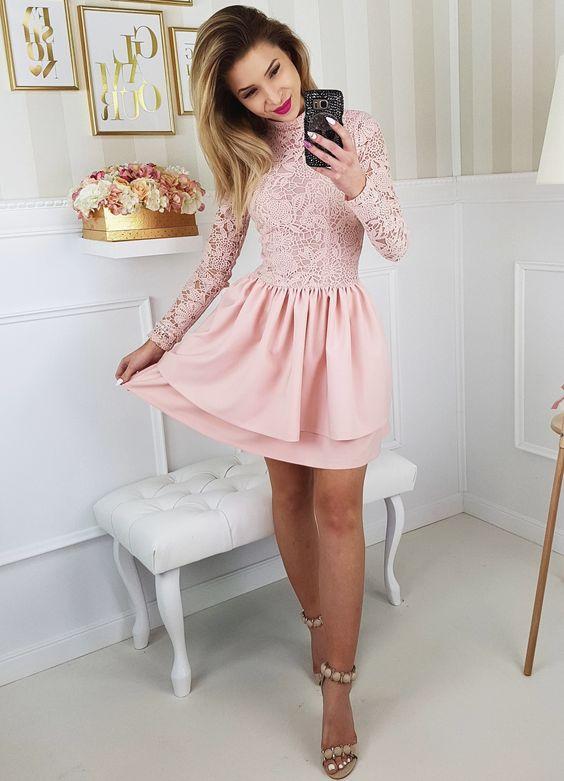 Pudrowa Rozowa Sukienka Na Wesele Dress For Short Women Informal Dress Dresses