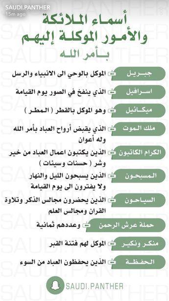 أسماء الملائكة Recitation Du Coran Apprendre L Islam Paroles Religieuses
