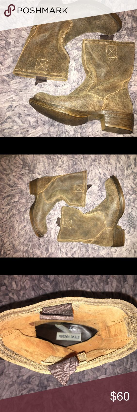 Steve Madden western styled cow boot Steve Madden western styled boots NWOT tags Steve Madden Shoes Ankle Boots & Booties