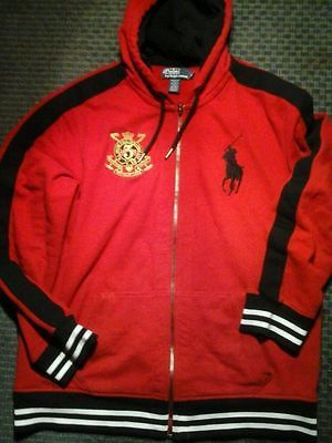 Ralph Lauren Soft Black Men Red Big Pony Hoody