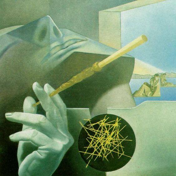 """""""The Sleeping Smoker"""" Salvador Dali 1972-73"""