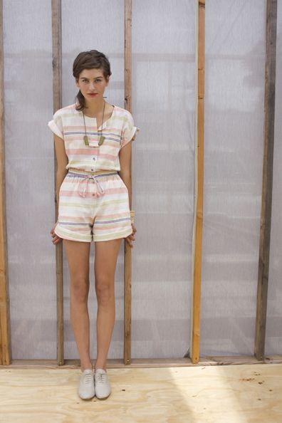 Organic cotton + stripes + romper? Yes, please!