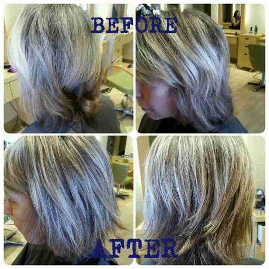 Love this photo! Tammy Knutson rocks it! Multi tone highlight with a textured cut! #tammyatneodolcesalon