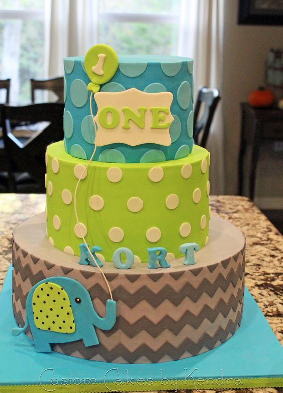 KORT'S FIRST BIRTHDAY - Miracle baby's first birthday cake  Design was based on party invitation and decor