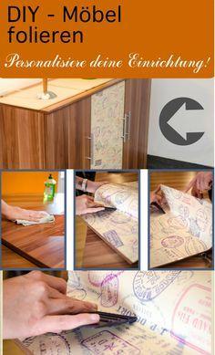 DIY zum Möbel folieren. So kannst du ganz einfach deiner Einrichtung mehr Pepp verleihen und deine Wohnung individuell gestalten!