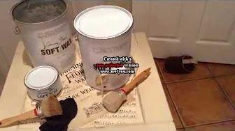 applying dark wax on smooth furniture - YouTube