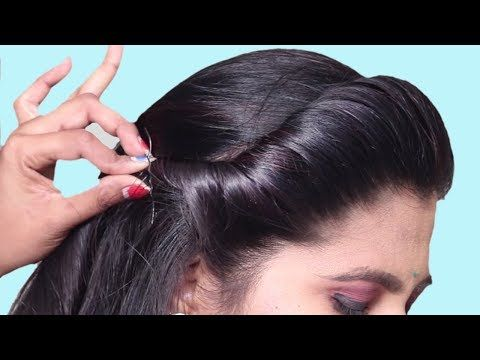 Latest Hairstyles For Party Wedding Easy Hairstyle For Beginners Step By Step Hair Style Front Hair Styles Easy Party Hairstyles Party Hairstyles For Girls