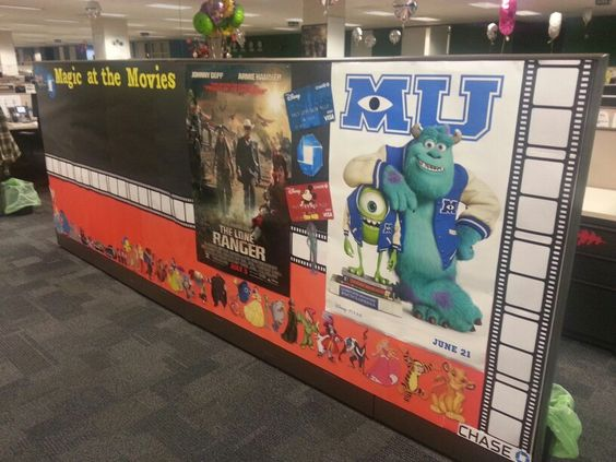 Movie poster board I did at work