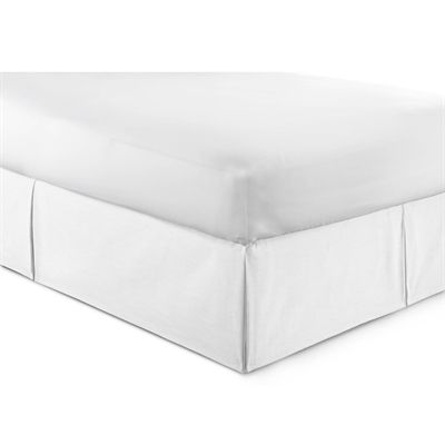 Colcha Linens Bed Skirts & Accessory CM-B Cambric White Bedskirt