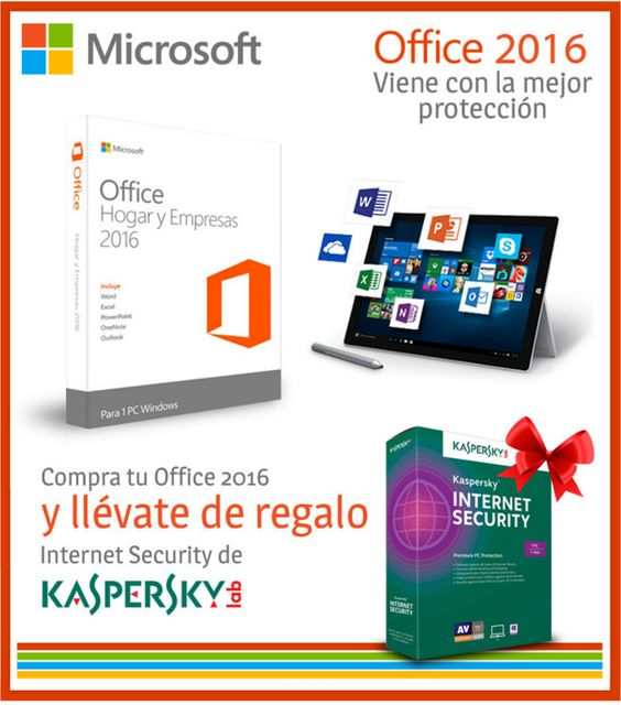 #PromoIVHO  ¡Adquiere Office 2016 y te regalamos uno de los mejores antivirus sin costo!