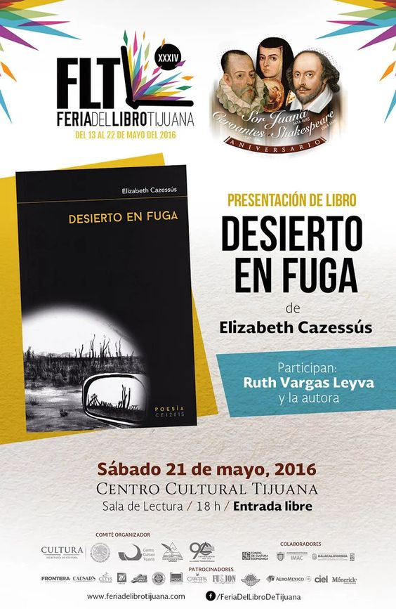 Presentación de libro: Desierto en fuga de Elizabeth Cazessús