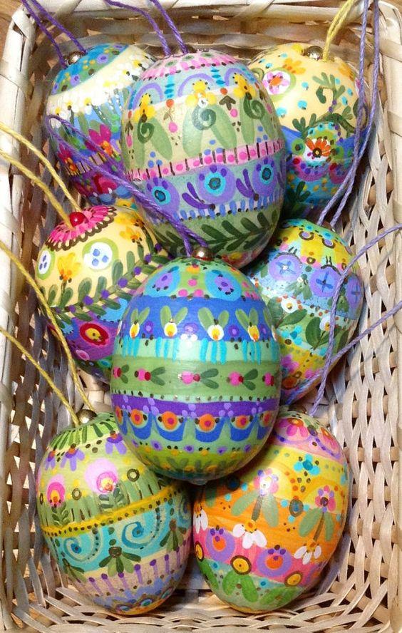 Handpainted Easter Egg By Polkadotponie On Etsy Easter