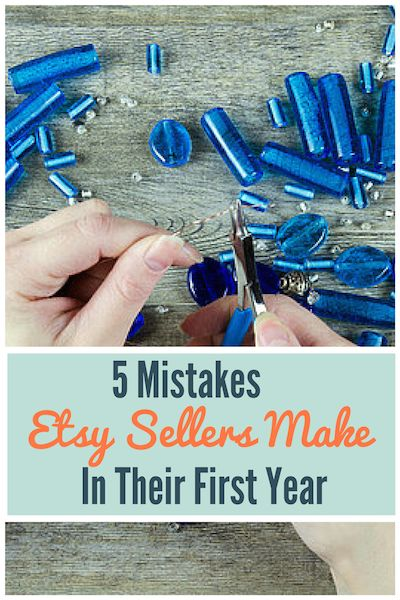 To succeed on Etsy, you need to excel where others are failing which means avoiding the 5 Big Mistakes Etsy Sellers Make in their first year...