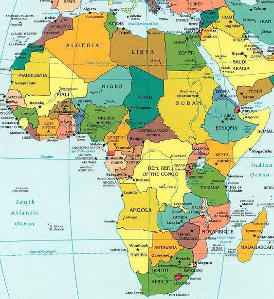 Africa Map School Ideas Pinterest Africa Map And Geography - Botswana map hd