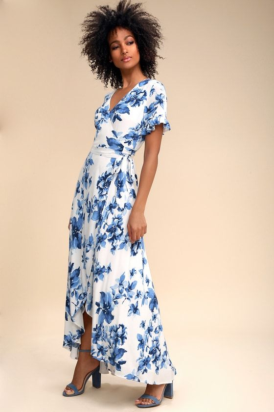 41+ Blue and white floral dress information