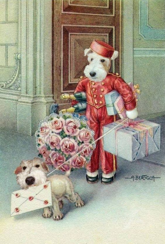 Terrier'ific greetings to you! :-D Old card cover....