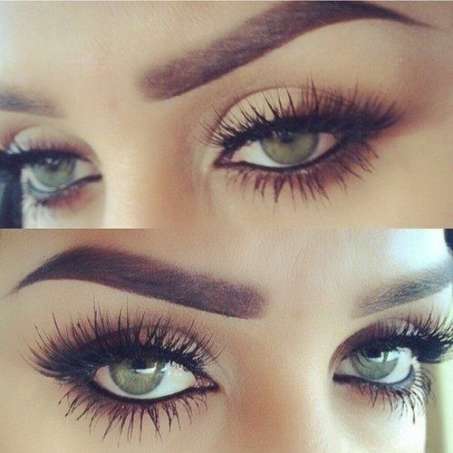 semi permanent eyelash extensions,( and those eyebrows !)
