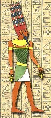 Amon: Rei dos deuses, ele é o senhor dos templos de Luxor e Carnac.