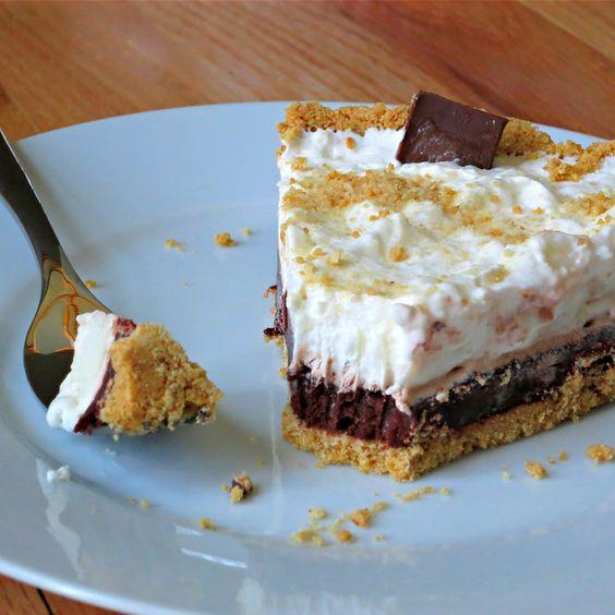 Easy Creamy S�more Pie