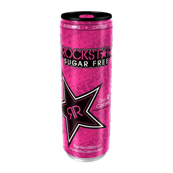 Rockstar energy drink goes pink ❤ liked on Polyvore featuring food, drinks, food and drink, fillers and accessories