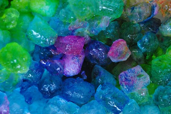 Rainbow ice...