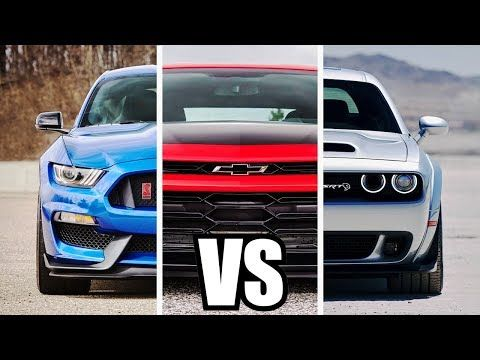 2019 Mustang Shelby Gt350 Vs Camaro Zl1 1le Vs Challenger Srt