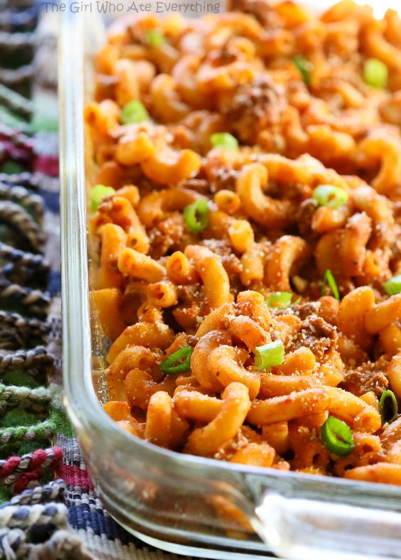 Easy Taco Bake - A pasta dish that tastes like a taco! Easy dinner recipe.