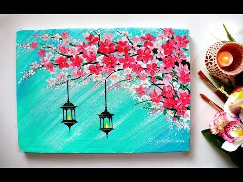 Youtube Canvas Painting Designs Diy Canvas Art Painting Simple Acrylic Paintings