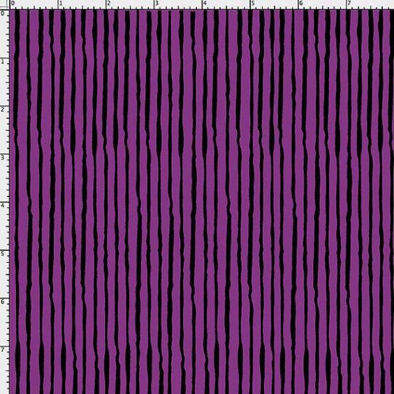 NEW Loralie Designs Sorta Stripe Purple fabric by DownSouthHippie