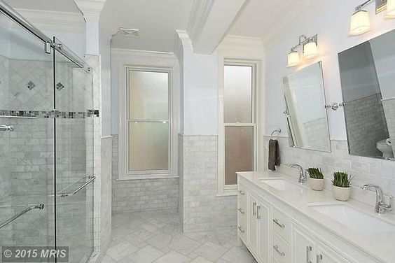 Awesome tile bathroom.