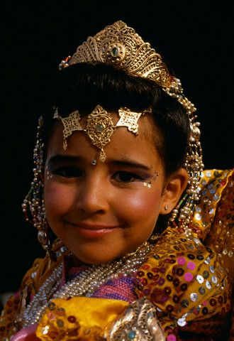 Moroccan Girl in traditional wear: