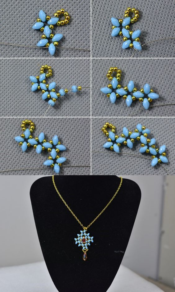 Like this beaded pendant necklace? LC.Pandahall.com will release the tutorial.: