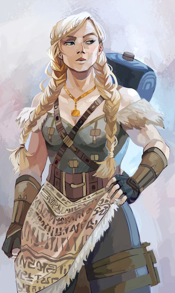 Gunilla Official Art by Viria | Magnus Chase and the Gods of Asgard | MCGA***el Valhalla | Valkyrie