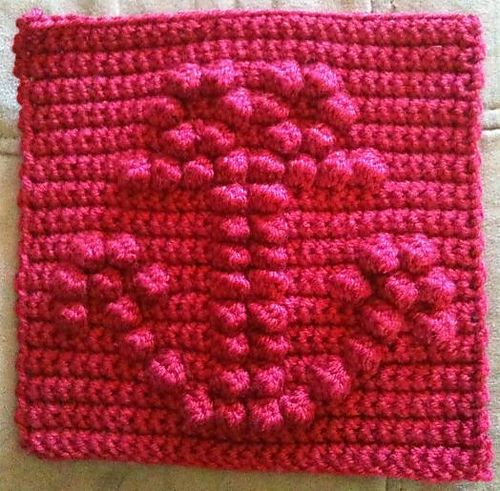 Free Crochet Pattern Bobble Afghan : Anchor Bobble Chart pattern by Kari Philpott ~ free ...
