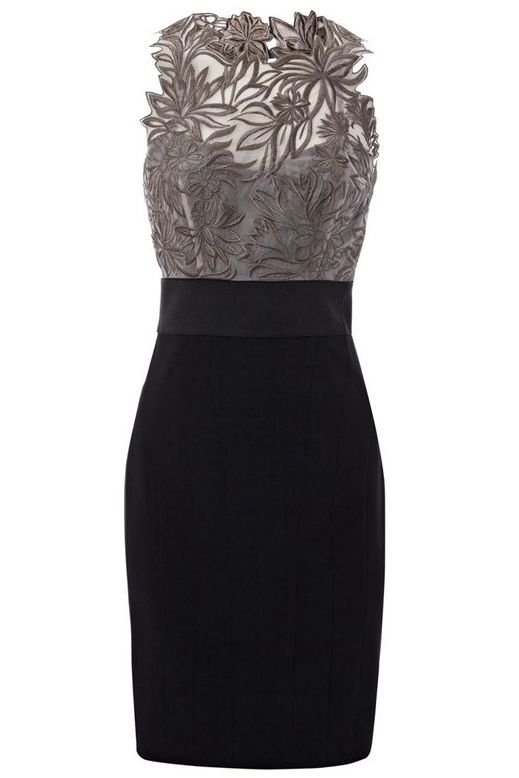 A-Line Jewel Sleeveless Short Black Mother of The Bride Dress with Lace