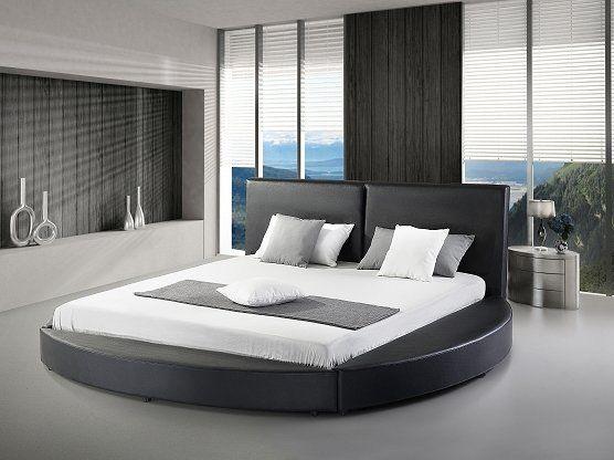 Lura Upholstered Platform Bed Modern Platform Bed Round Beds Upholstered Platform Bed