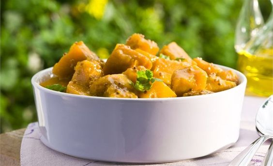 Salada de abóbora com molho agridoce