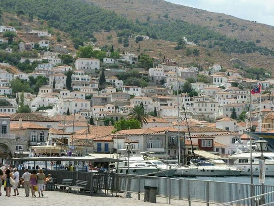 Hydra, the Island of Cats. Sounds like heaven to me! The only motorized vehicles allowed on the island are the refuse trucks - yay!