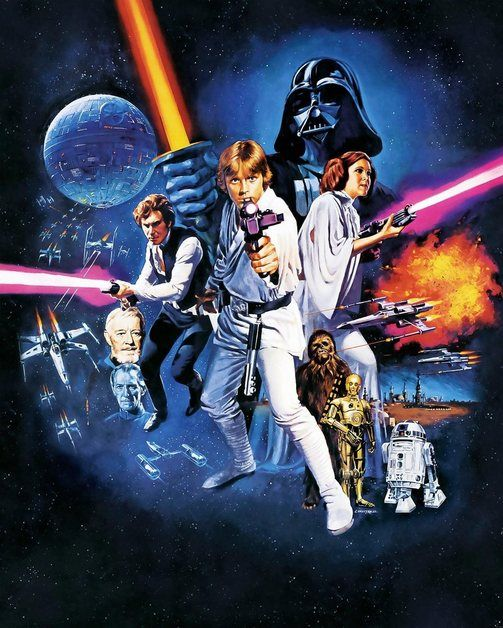 Fototapete Star Wars Poster Classic 1 200 250 Cm Droides Star Wars Star Wars Star Wars Fan Art