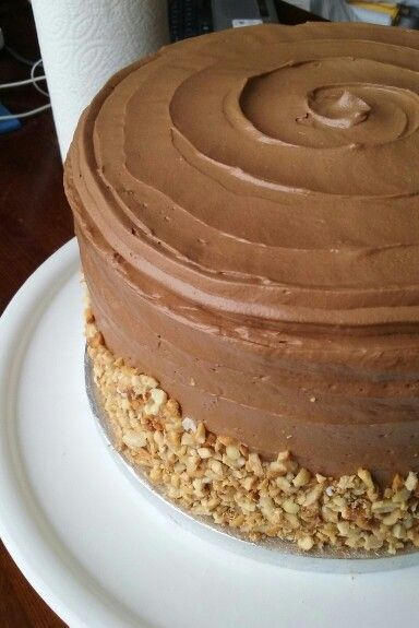 Chocolate and peanut butter cake